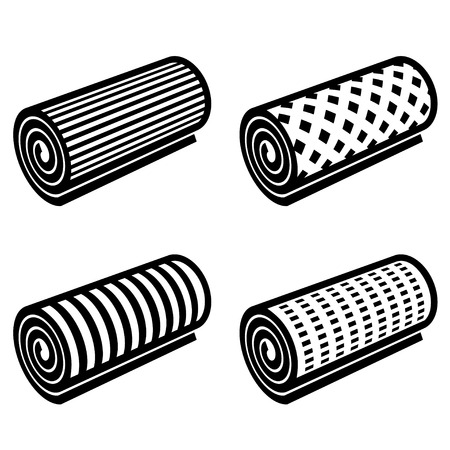 roll of anything black symbol vector Vectores