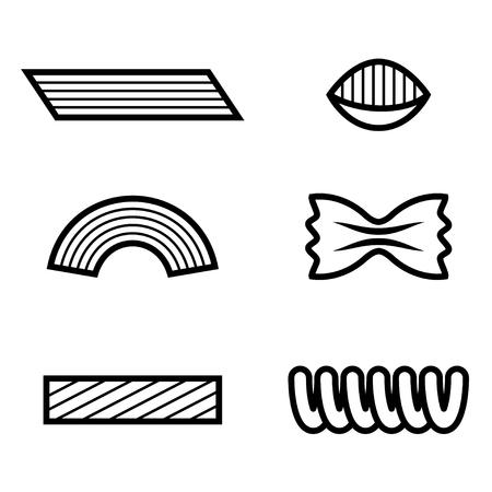wholemeal: pasta black line icon
