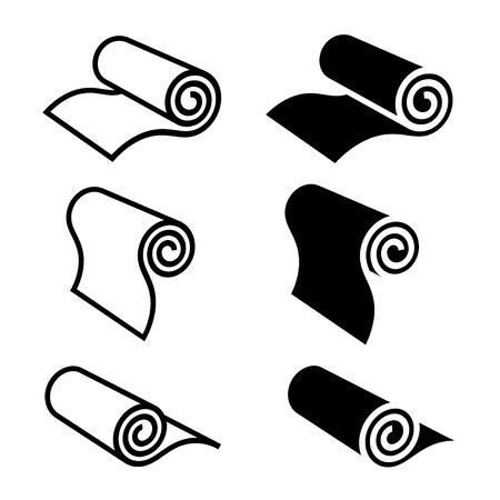 Rolle etwas schwarzes Symbol