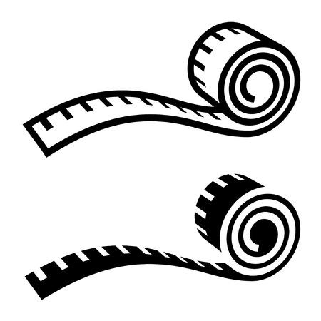 フィットネス測定テープ黒シンボル