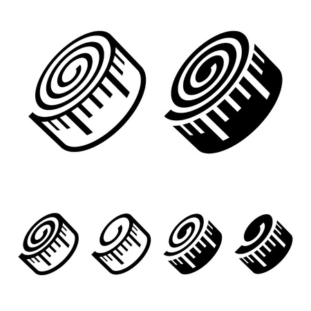 cinta metrica: aptitud cinta métrica símbolo negro