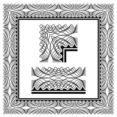 guilloche pattern: seamless certificate classic decorative border
