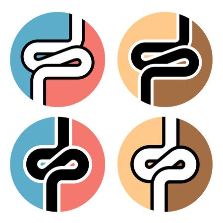 bowel: intestines simple symbol
