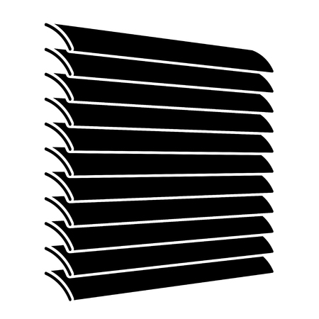 concealed: venetian blinds black symbol