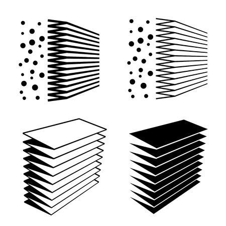 air filter: air filter effect black symbol Illustration