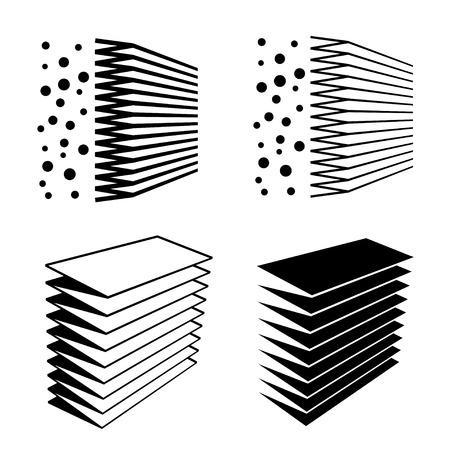 air filter effect black symbol Vettoriali