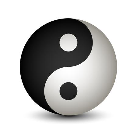 yin y yan: Símbolo de la esfera de Yin Yang