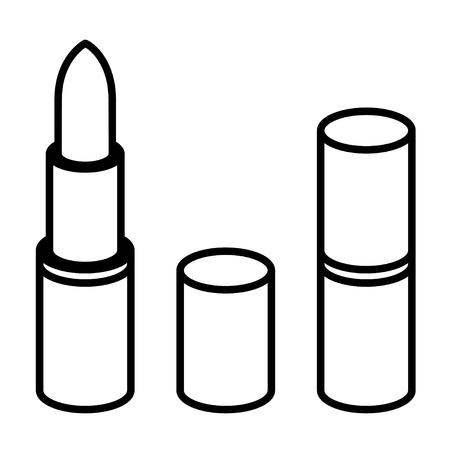 pomade: 3d lipstick black line symbol