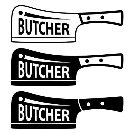 meat chopper: butcher meat cleaver chopper symbol Illustration