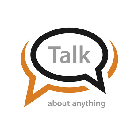 speech icon: speech bubble talk icon vector