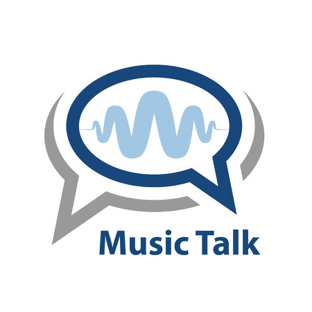 speech icon: speech bubble music wave talk icon vector