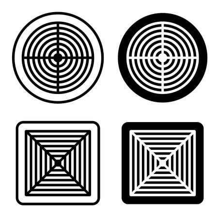 ventilation grille black symbol vector Vectores