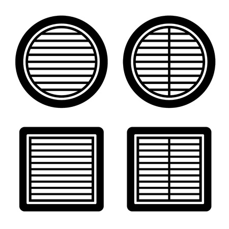 Lüftungsgitter schwarz symbol vektor Standard-Bild - 67968375