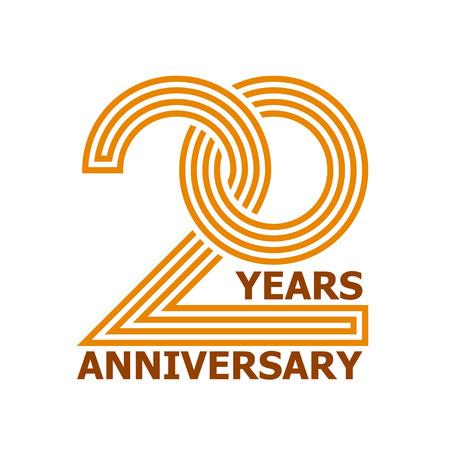 20 jaar verjaardag symbool vector