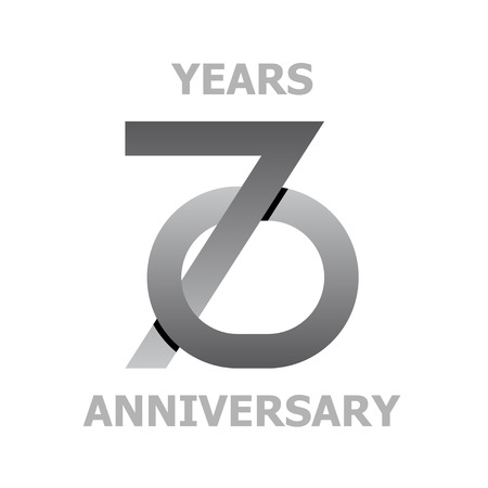 70 Years Anniversary Symbol Vector Royalty Free Cliparts Vectors