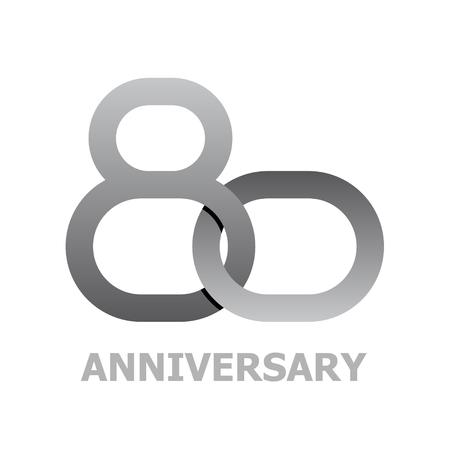 80 years: 80 years anniversary symbol vector