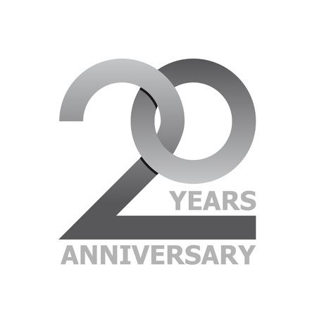 20 年周年記念シンボル ベクトル