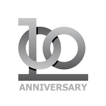 hundred: 100 years anniversary symbol vector Illustration