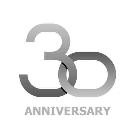 30 years anniversary symbol vector