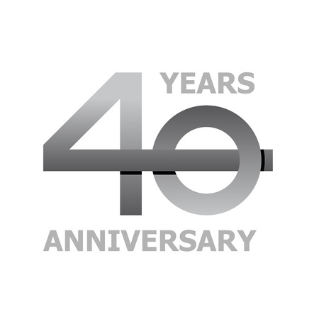 40: 40 years anniversary symbol vector