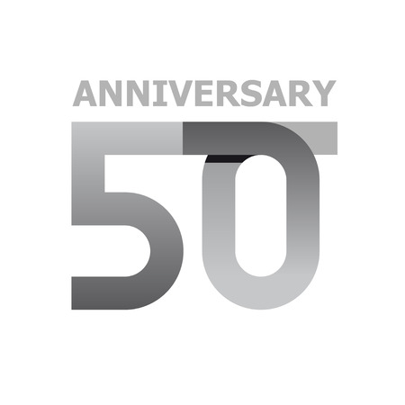 50 years anniversary number vector