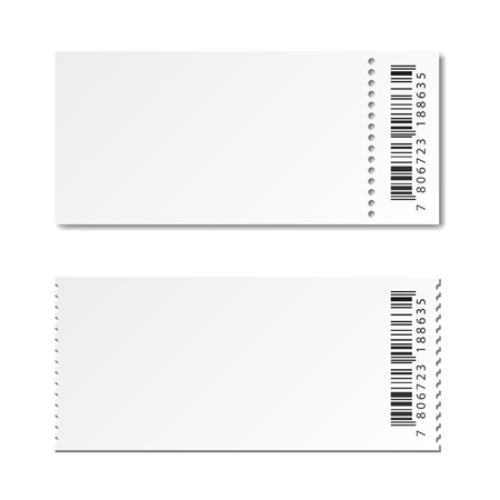 blank template: blank white paper ticket vector