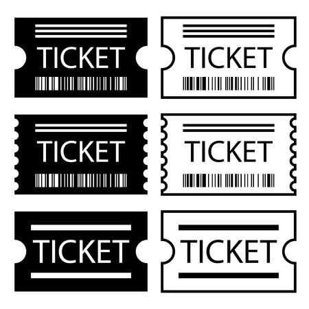 ean: paper ticket symbol black white vector Illustration