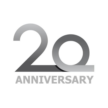 20 years anniversary number vector Vettoriali