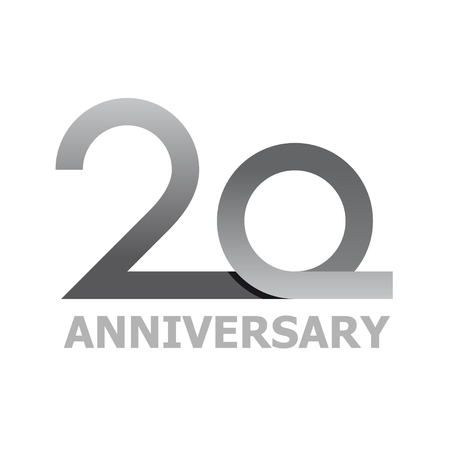 20 years anniversary number vector Illustration