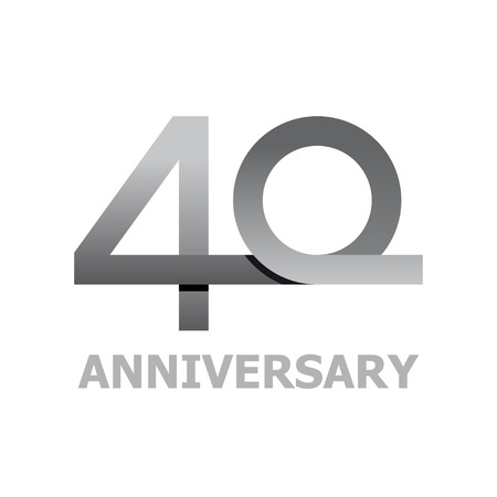 40 years anniversary number vector