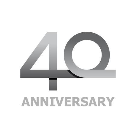 40 years anniversary number vector
