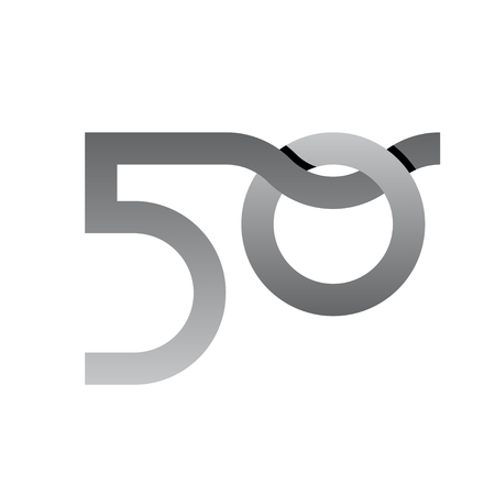 50 years anniversary number vector Illustration