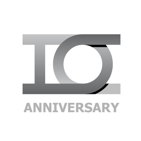 10 years anniversary number vector Ilustração