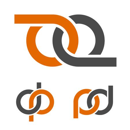 Abstract infinity eight emblem vector Ilustração