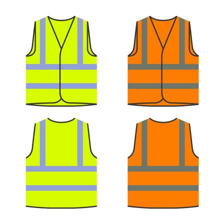 reflective safety vest yellow orange.