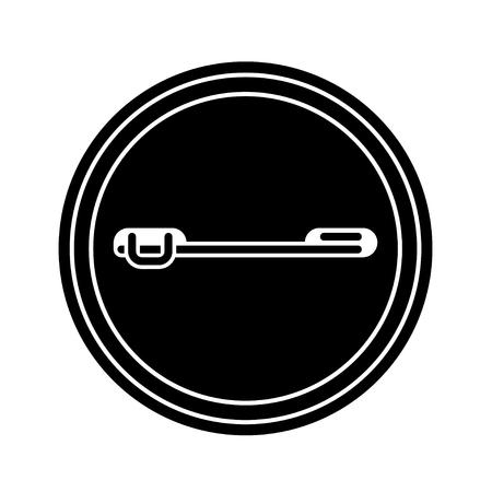 badge button back black symbol.