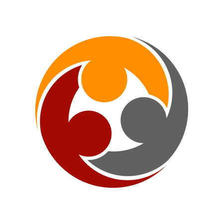 human community round symbol vector Ilustração