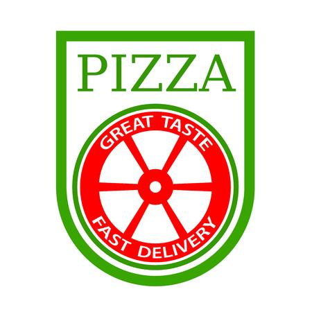 traditional italian pizza emblem vector
