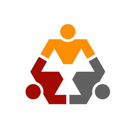 human community hexagon symbol vector Ilustração