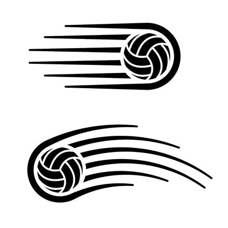 Volleyball ball motion line symbol. Ilustração