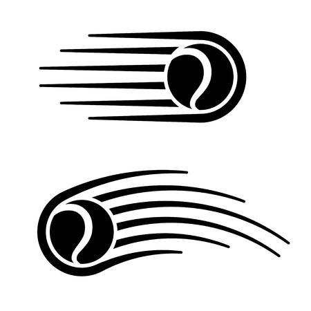 Tennis ball motion line symbol.