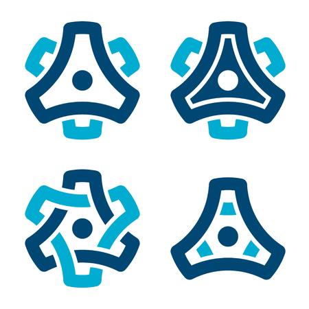 Sprocket cogwheel gear symbol.