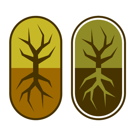 tree symbol: Abstract capsule with tree symbol.