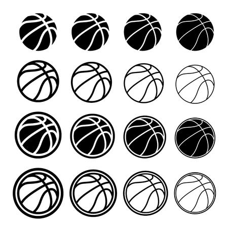 Basketball ball black symbol. Ilustração