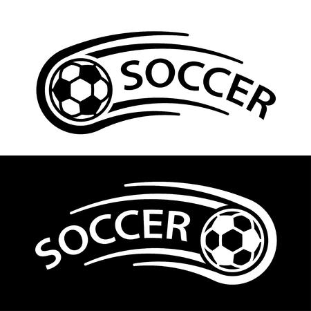 Soccer ball motion line symbol vector.