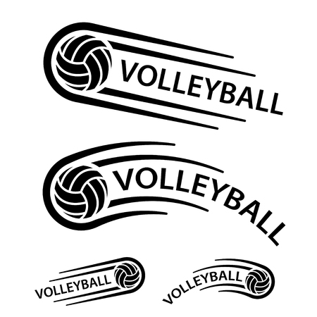 Volleyball ball motion line symbol vector.