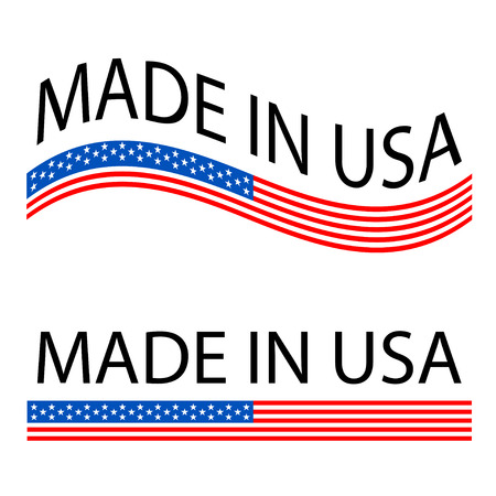 Made in USA flag icon vector.