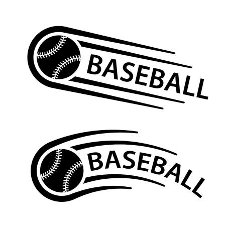 Baseball ball motion line symbol vector.