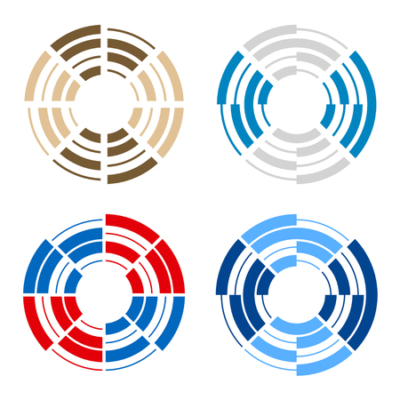 Letter O number 0 zero logo icon design vector.