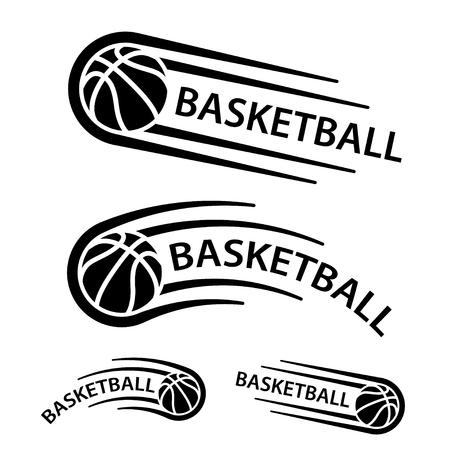 Basketball ball motion line symbol vector.